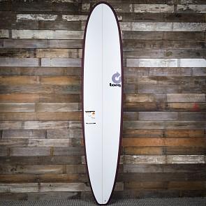 Torq Longboard 9'0 x 22 1/4 x 3 1/8 Surfboard - Burgandy/White - Deck