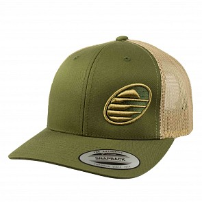 Cleanline Embroidered Rock Mesh Hat - Moss/Khaki