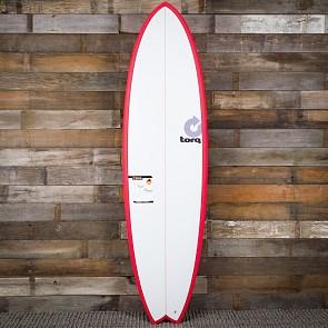 Torq Mod Fish 6'10 x 21 3/4 x 2 3/4 Surfboard - Red/White - Deck