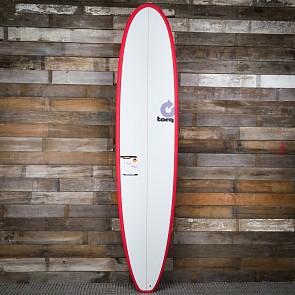 Torq Longboard 8'6 x 22 1/2 x 3 1/8 Surfboard - Red/White - Deck