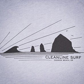 Cleanline Haystack Rays T-Shirt - Heather Storm
