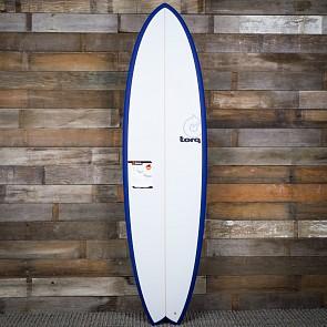 Torq Mod Fish 6'10 x 21 3/4 x 2 3/4 Sufboard - Navy Blue/White - Deck