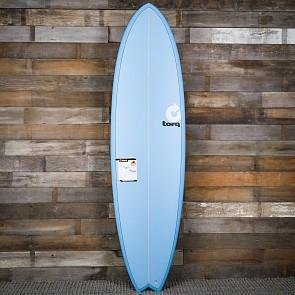 Torq Mod Fish 7'2 x 22 1/2 x 3 Surfboard - Blue - Deck