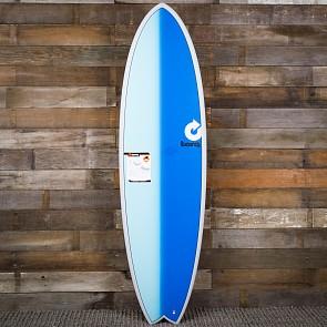 Torq Mod Fish 6'3 x 20 1/2 x 2 1/2 Surfboard - Grey/Blue/Blue - Deck