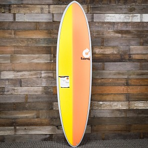 Torq Mod Fun 7'2 x 21 1/4 x 2 3/4 Surfboard - Grey/Yellow/Orange - Deck