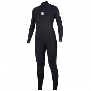 Rip Curl Women's Dawn Patrol 4/3 Chest Zip Wetsuit -Black