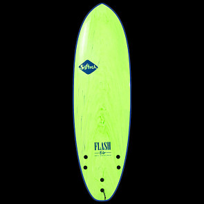 Softech Eric Geiselman 6'6 Soft Surfboard - Green Marble - Deck
