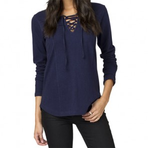 Element Women's Midnight Lace Up Top - Indigo