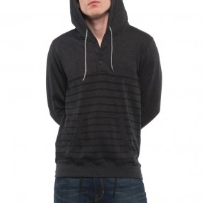 Element Premium Cornell Henley Hoodie - Charcoal Heather