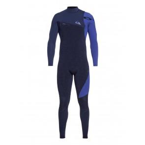 Quiksilver Highline 3/2 Zipperless Wetsuit - Navy Heather/Navy