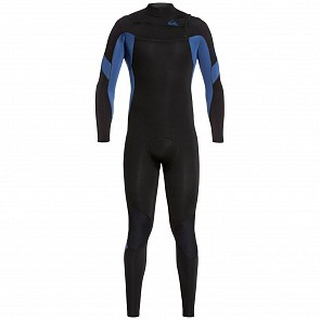 Quiksilver Syncro 3/2 Chest Zip Wetsuit - Black/Iodine Blue