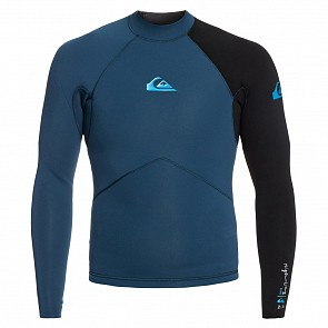 Quiksilver Highline Plus 2mm Jacket - Black/Iodine Blue