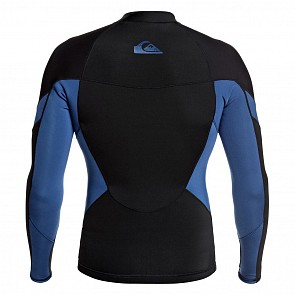 Quiksilver Syncro 1mm Long Sleeve Jacket - Black/Iodine Blue