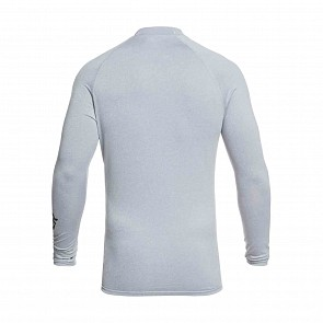 Quiksilver All Time Long Sleeve Rash Guard - Light Grey Heather