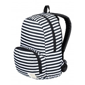 Roxy Women's Always Core Extra Small Backpack - Bright White Basic Stripe