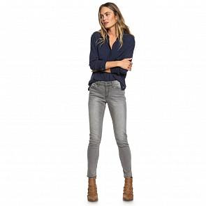 Roxy Women's Seatripper Skinny Fit Jeans - Grey Wash