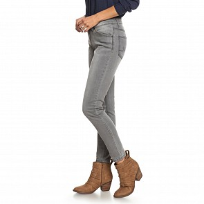 Roxy Women's Seatripper Skinny Fit Jeans - Grey Wash