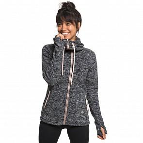 Roxy Women's Electric Feeling Zip Up Hoody - Charcoal Heather