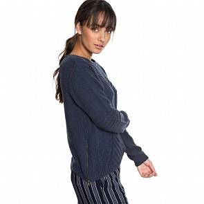 Roxy Women's Glimpse Of Romance Sweater - Dress Blues