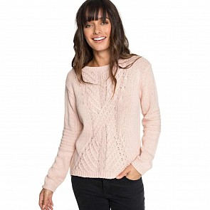 Roxy Women's Glimpse Of Romance Sweater - Peach Whip
