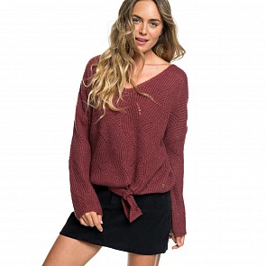 Roxy Women's See You In Bali Sweater - Oxblood Red