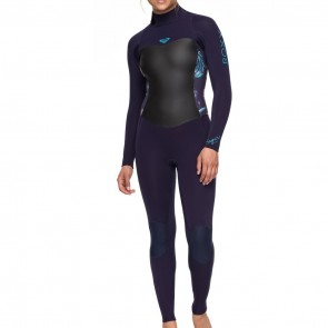 Roxy Women's Syncro 4/3 Back Zip Wetsuit - Blue Ribbon