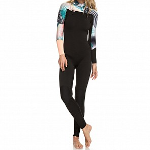 Roxy Women's Pop Surf 3/2 Chest Zip Wetsuit - Black