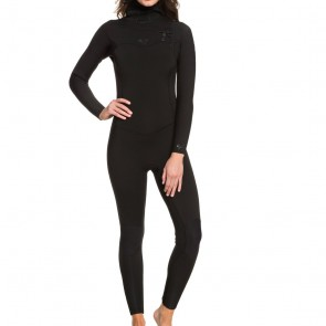 Roxy Women's Syncro 5/4/3 Hooded Chest Zip Wetsuit