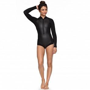 Roxy Women's Satin 1mm Long Sleeve Cheeky Cut Front Zip Spring Wetsuit