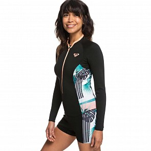 Roxy Women's Pop Surf 1.5mm Long Sleeve Front Zip Spring Wetsuit