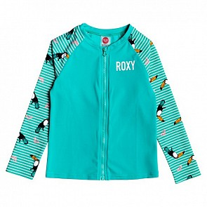 Roxy Youth Girls Birds Long Sleeve Rash Guard - Bright White S Birds