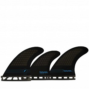 Futures F4 HC Tri-Quad Fin Set - Smoke/Black/Blue