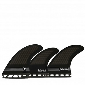 Futures F8 HC Tri-Quad Fin Set - Smoke/Black/White