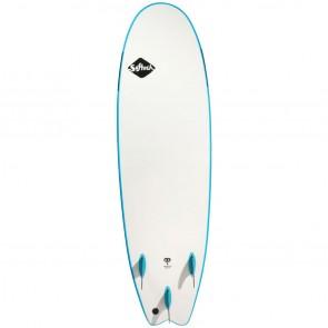 Softech Handshaped 8'0 Soft Surfboard - Blue