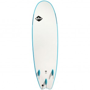 Softech Handshaped 7'6 Soft Surfboard - Blue