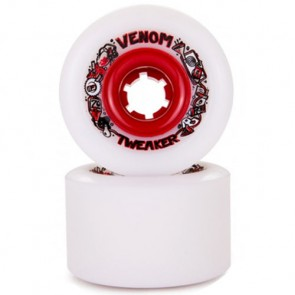 Venom 70mm Tweaker Wheels - White/Red