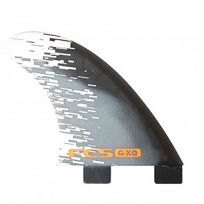 FCS Fins GXQ Quad Rears Fin Set - Orange Smoke