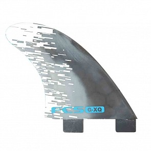 FCS Fins PC5 Medium Tri-Quad Fin Set - Blue Smoke