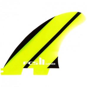 FCS II Fins - Carver Neo Glass Tri Medium - Lime/Black
