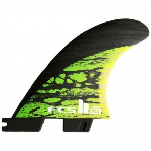 FCS II Fins MB PC Carbon Medium Tri-Quad Fin Set