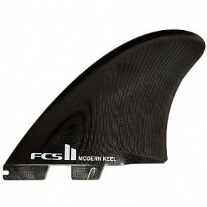 FCS II Fins Modern Keel Twin Fin Set - Black