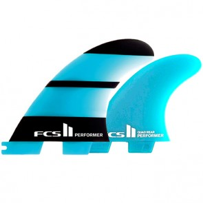 FCS II Fins Performer Neo Glass Tri-Quad Medium - Blue/Black