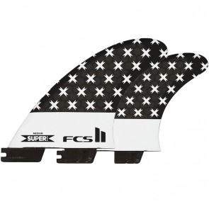 FCS II Fins Super PC Large Tri-Quad Fin Set