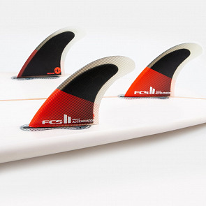 FCS II Accelerator PC Large Tri Fin Set - Red/Black