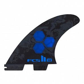 FCS II Al Merrick PC Medium Tri-Quad Fin Set - Cobalt
