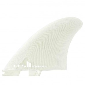 FCS II Fins Modern Keel Twin Fin Set - White - XL