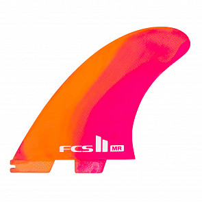 FCS II Fins MR PC Twin + 1 Fin Set - Neon
