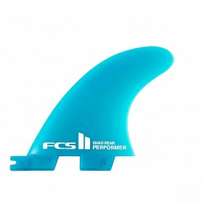 FCS II Fins Performer Neo Glass Medium Quad Fin Set - Teal Gradient