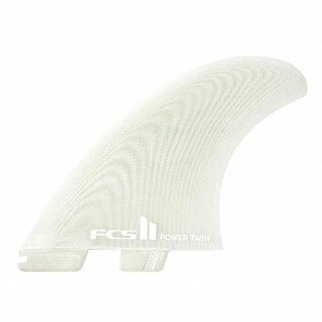 FCS II Fins Power Twin PG Fin Set - Clear