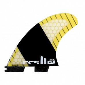 FCS II Fins SF4 Stretch PC Carbon Quad - Yellow/Carbon